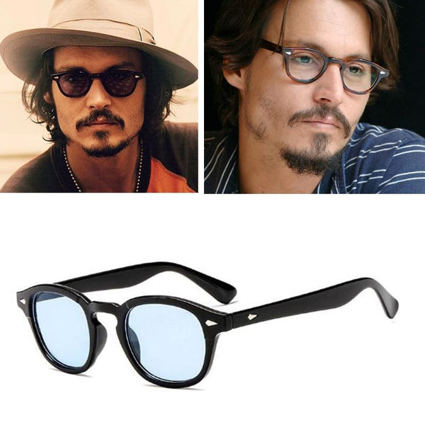 Celebrity Johnny Depp Transparent Oval Sunglasses For Men -SunglassesTrendz
