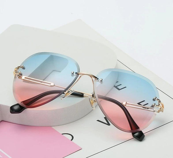 Stylish Rim Less Gradient Shades For Women-SunglassesTrendz