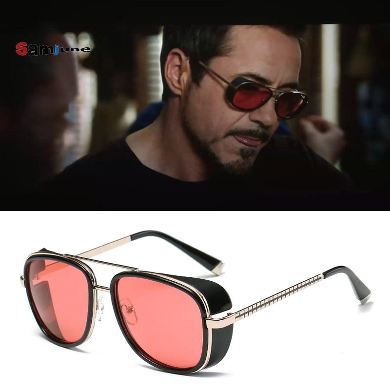 New Stylish Tony Stark Square Vintage Sunglasses For Men And Women-SunglassesTrendz