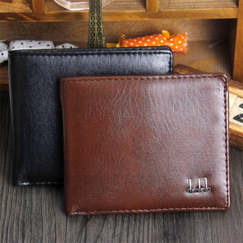 Soft Leather Wallet Fashion Short Bifold Purse For Men