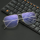 Retro Oversize Square Metal Reading glasses For Men And Women-SunglassesTrendz