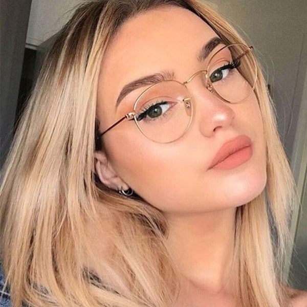 Fashion Reading Round Glasses Ultra-Light Frames - SunglassesTrendz