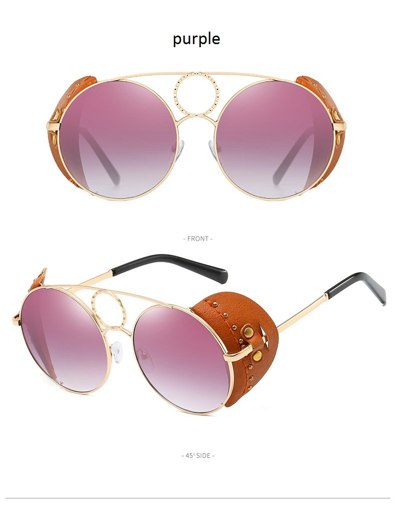 Round Steampunk Vintage Sunglasses  For Men And Women