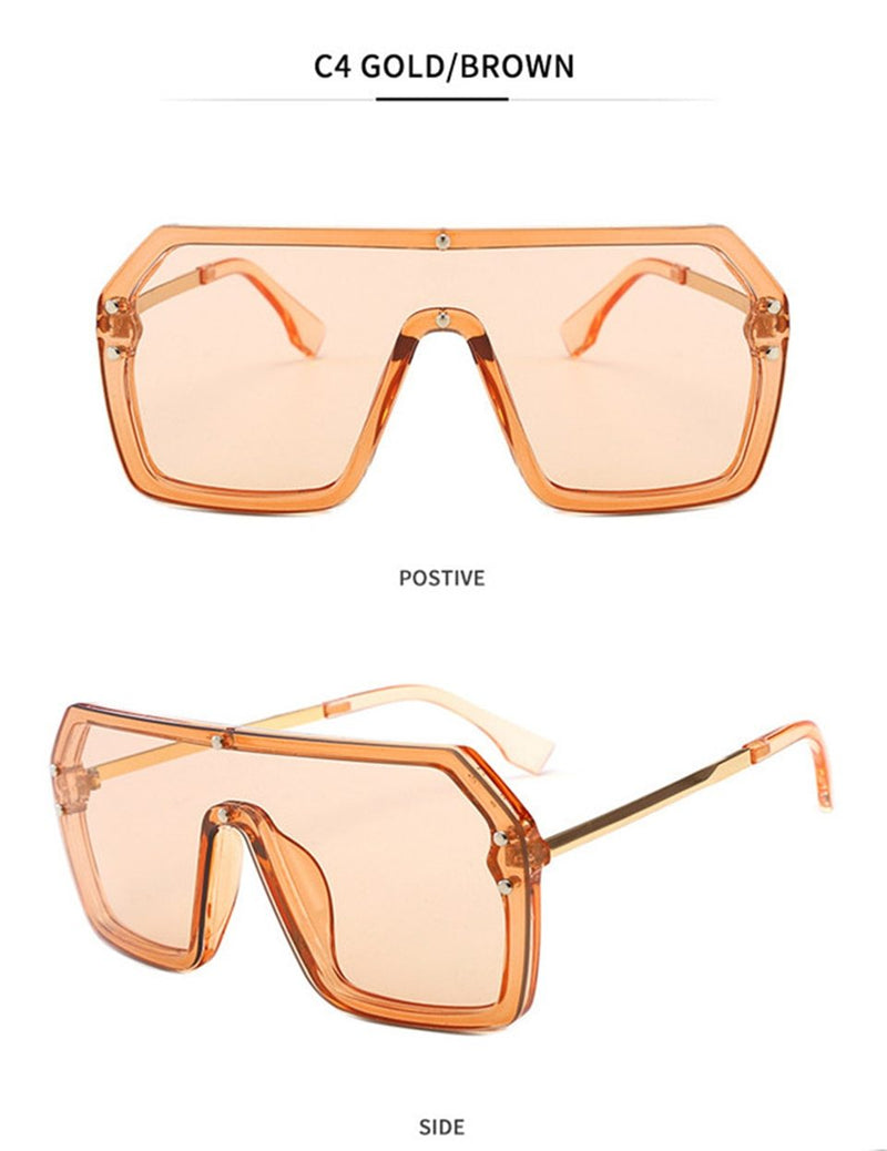 Stylish Square Transparent Sunglasses For Men And Women-SunglassesTrendz