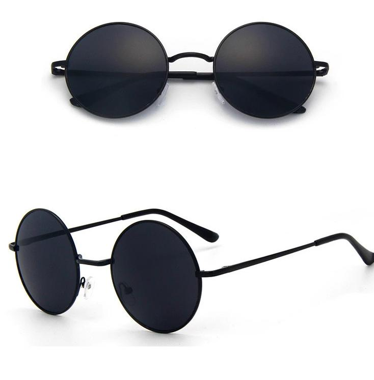 New Brand Designer Classic Polarized Round Sunglasses Men Women Small Vintage Retro -SunglassesTrendz