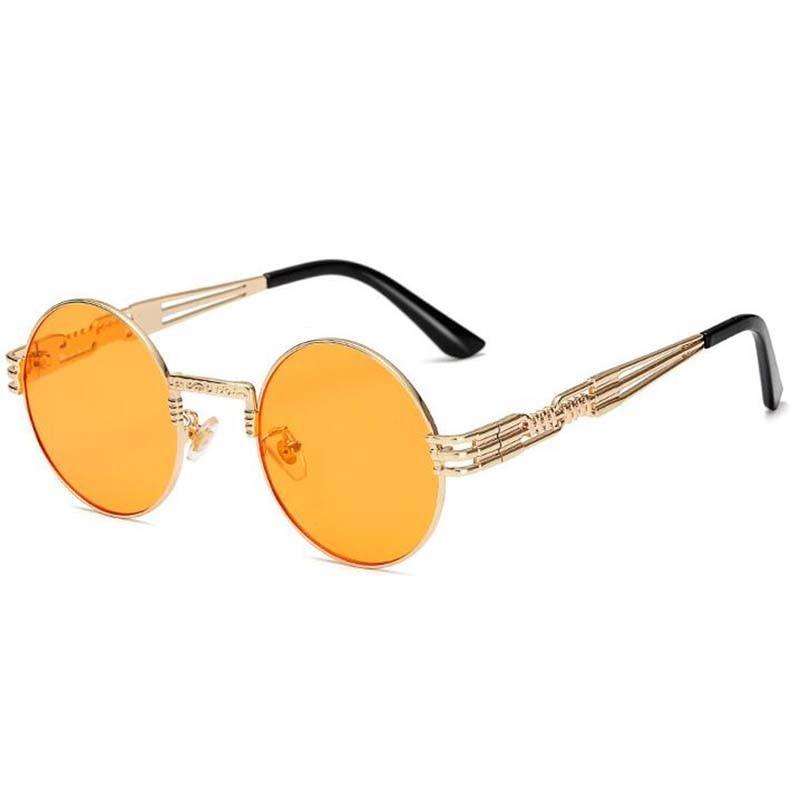 Metal Alloy Round Sunglasses For Men And Women -SunglassesTrendz