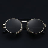 Round Steampunk Sunglasses For Men And Women-SunglassesTrendz
