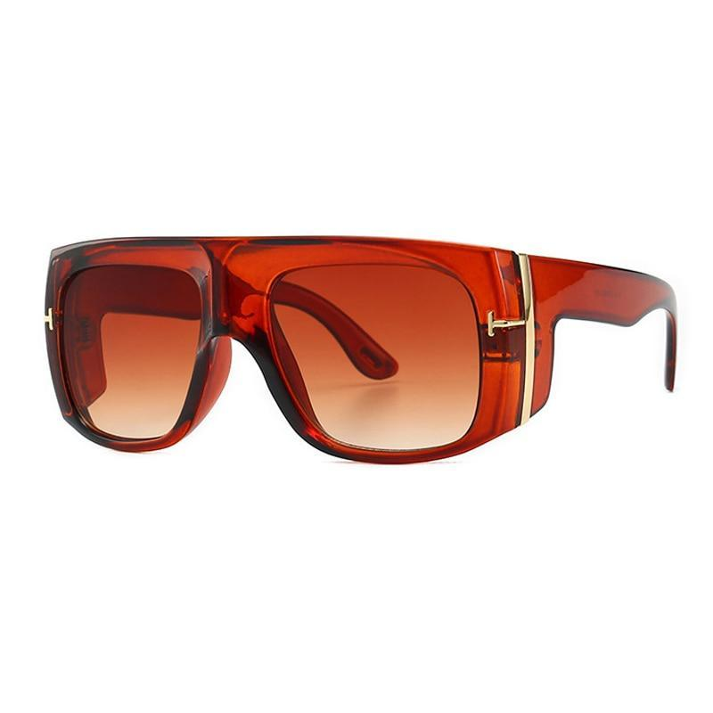 Celebrity Fashionable Oversize Vintage Square  Sunglasses For Men And Women
