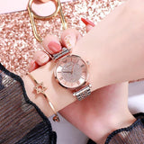 Luxury Diamond Women Fashion Quartz Full Steel Round Dial Waterproof Female Wristwatch-SunglassesTrendz