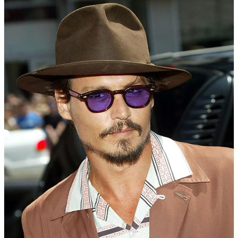 Celebrity Johnny Depp Oval Sunglasses For Men -SunglassesTrendz