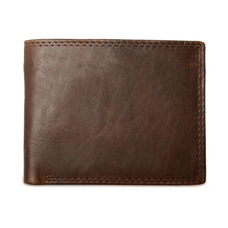Vintage Genuine Leather Wallets For Men With Coin Pocket