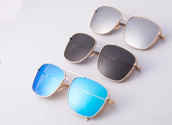 New Metal Alloy Square Sunglasses For Men And Women -SunglassesTrendz