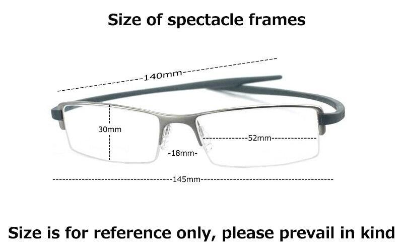 New Fashion Retro Glasses Half Rim Optical Frame Metal For Men Women - BRANDEDBABA