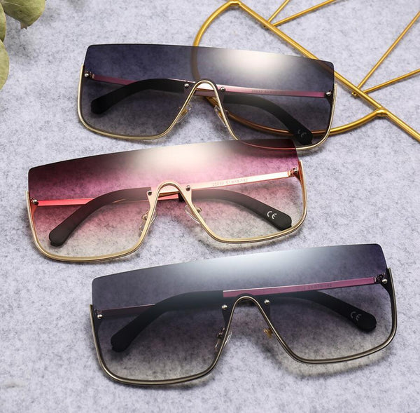 New Arrival Luxury Half Rim Less Gradient Sunglasses For Men And Women-SunglassesTrendz