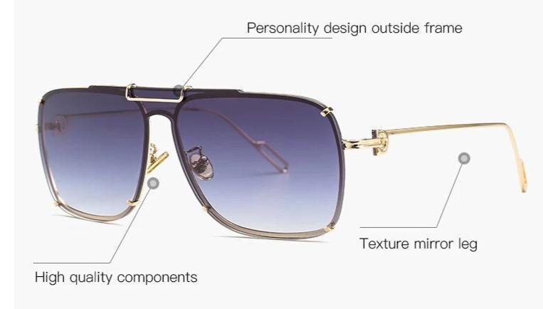 New Luxury Design Square Sunglasses For Men And Women -SunglassesTrendz