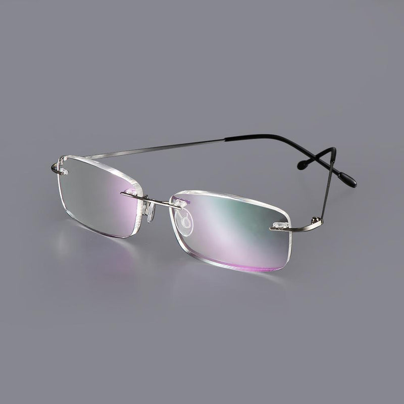 Men Women Fashion Reading Glasses Rimless Ultra-Light Frames - SunglassesTrendz