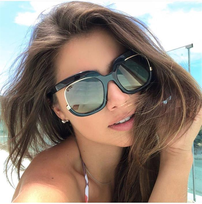 New Stylish Oversize Gradient Sunglasses For Women-SunglassesTrendz