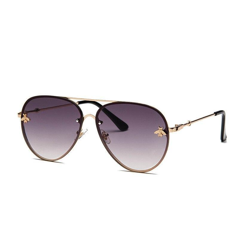 Stylish Bee Aviator Sunglasses For Women-SunglassesTrendz