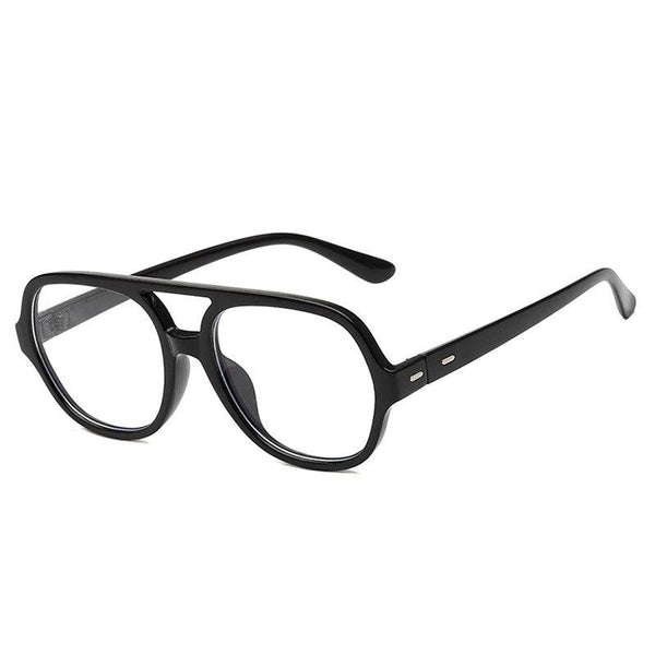 Retro Oversize Square Glasses Frame Classic Flat Light For Men And Women -SunglassesTrendz