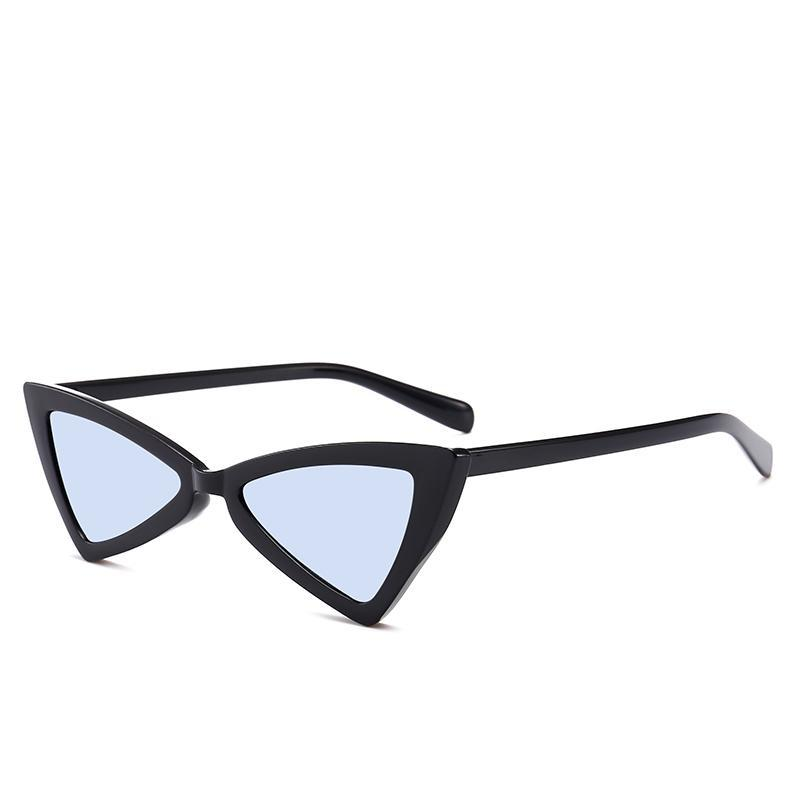 Cat Eye Sunglasses Fashion Triangle Small Size Modern Retro Design