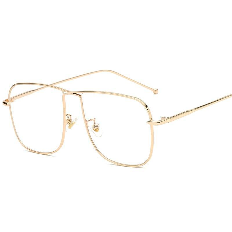 Retro Oversize Square Metal Reading glasses For Men And Women
