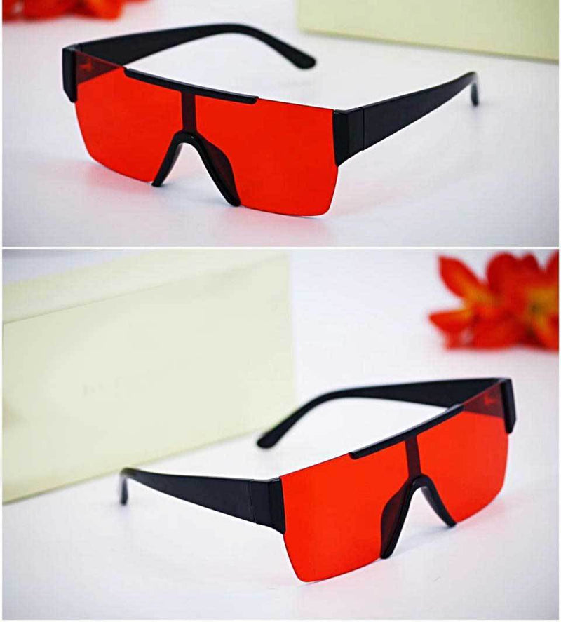 Classic One Piece Candy Square Sunglasses For Men And Women-SunglassesTrendz