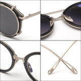 Fashionable Steam Punk Style Lens Removable Sunglasses For Men And Women