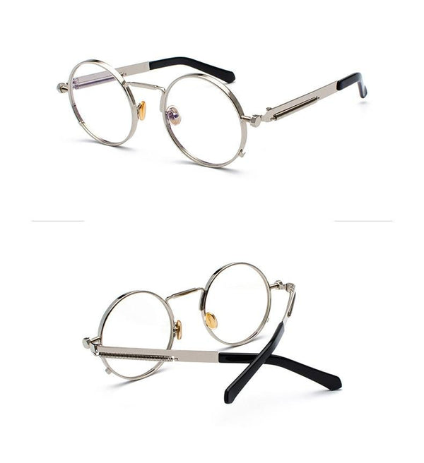 Round Steampunk Metal Springs Frame For Men And Women - SunglassesTrendz