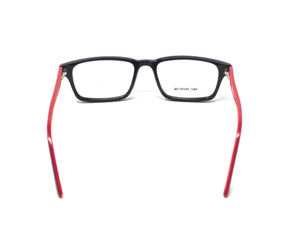 Rectangle Red Black Frames Optical Clear Eye Glass Frame