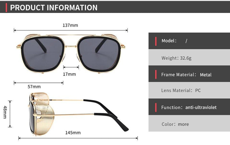 Stylish Square Side Flip Up Shades Sunglasses Frame For Men - SunglassesTrendz