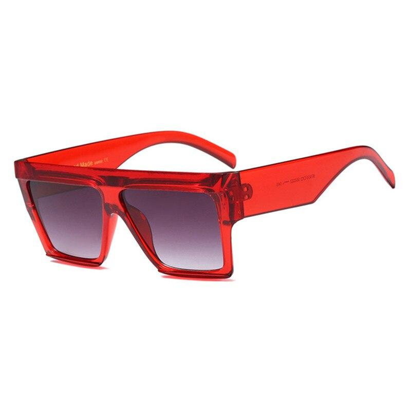 Celebrity Fashionable Oversized Vintage Square  Sunglasses For Men And Women