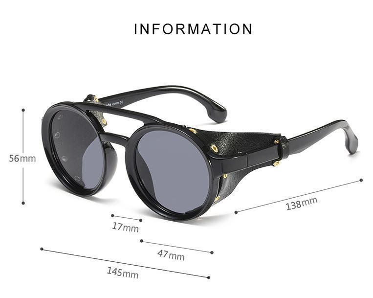 New Stylish Steampunk Round Sunglasses For Men And Women-SunglassesTrendz