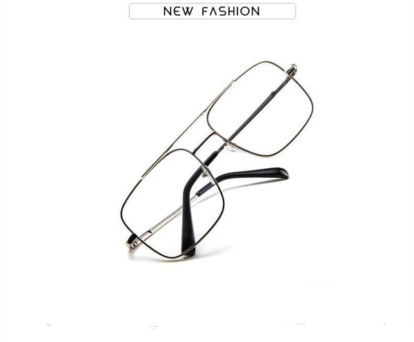 Fashion square frame vintage eyeglasses Oversized Frame For Men And Women - SunglassesTrendz