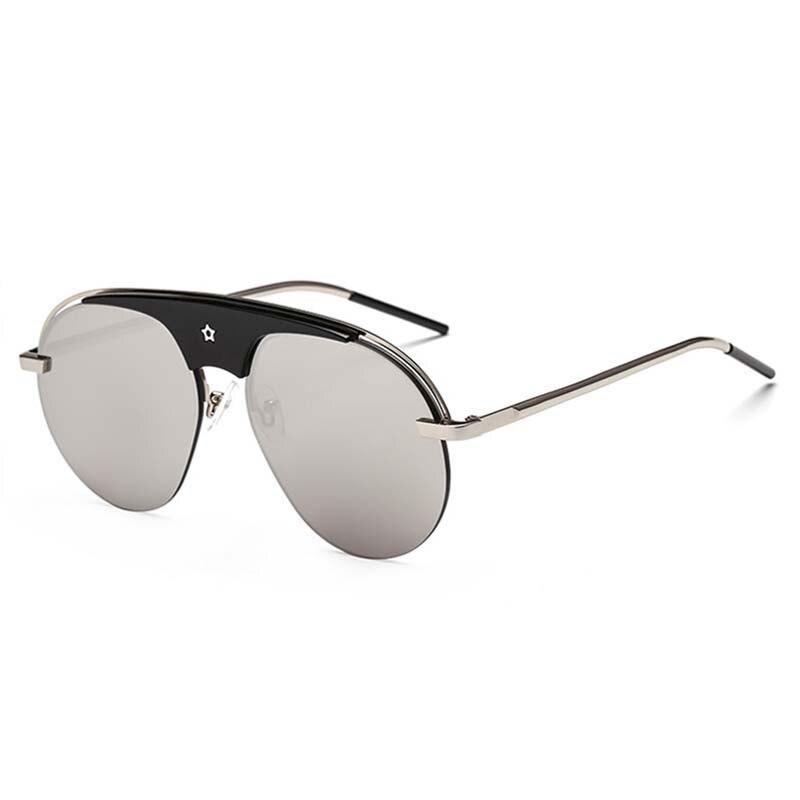 Round Metal Steampunk Style Sunglasses For Men Women