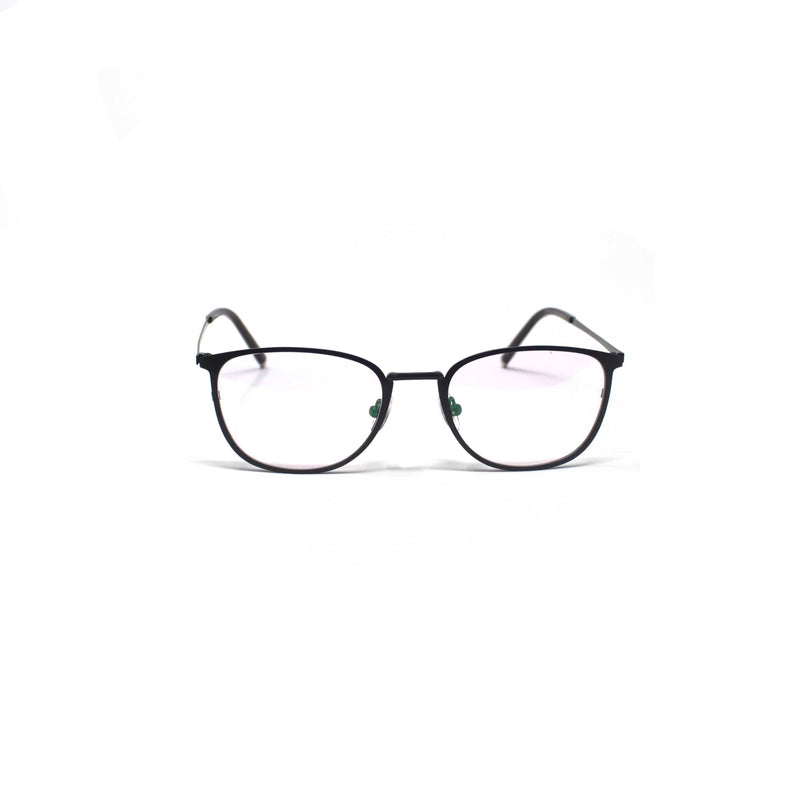 Oval Round Design Black Eyewear
