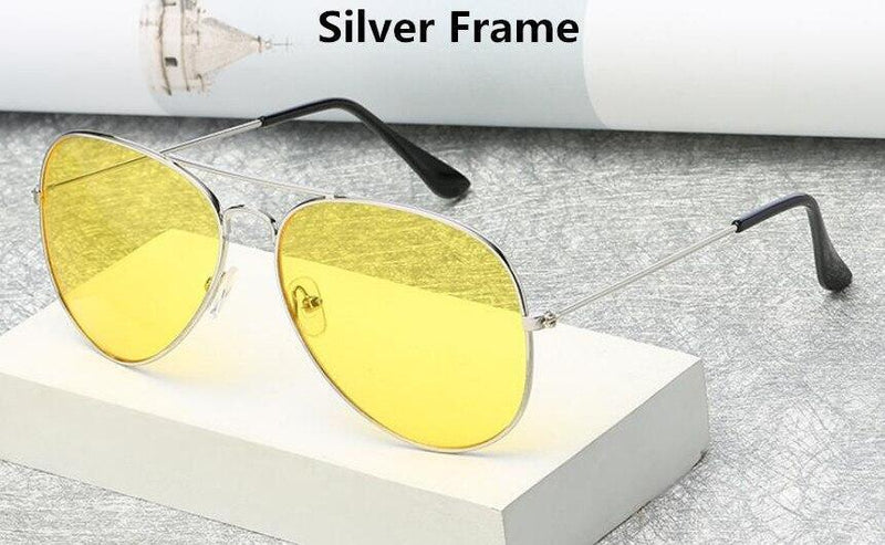 Stylish Aviator Yellow Candy Sunglasses For Men And Women -SunglassesTrendz