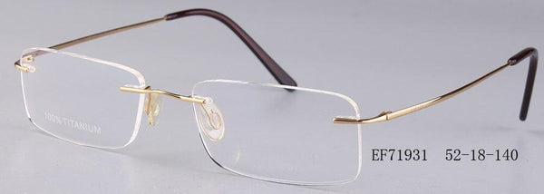 Rimless Glasses Man Points Women Titanium Optical Frames - SunglassesTrendz