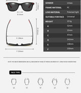 New Premium Polarized Square Sunglasses For Men And Women -SunglassesTrendz