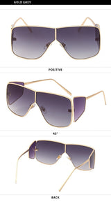Stylish Oversize Square Celebrity Design Sunglasses For Men And Women