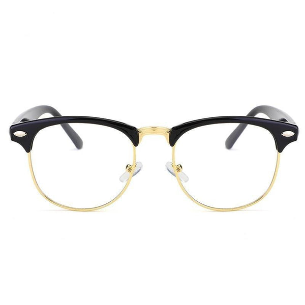 Retro Fashion Metal Half Frame Glasses Frame Woman Men Reading Glass - SunglassesTrendz