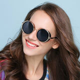 New Luxury Design Celebrity Round Sunglasses For Men And Women -SunglassesTrendz