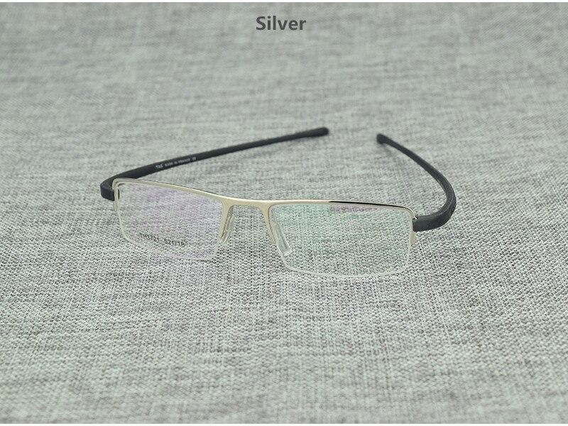 New Fashion Retro Glasses Half Rim Optical Frame Metal For Men Women - SunglassesTrendz