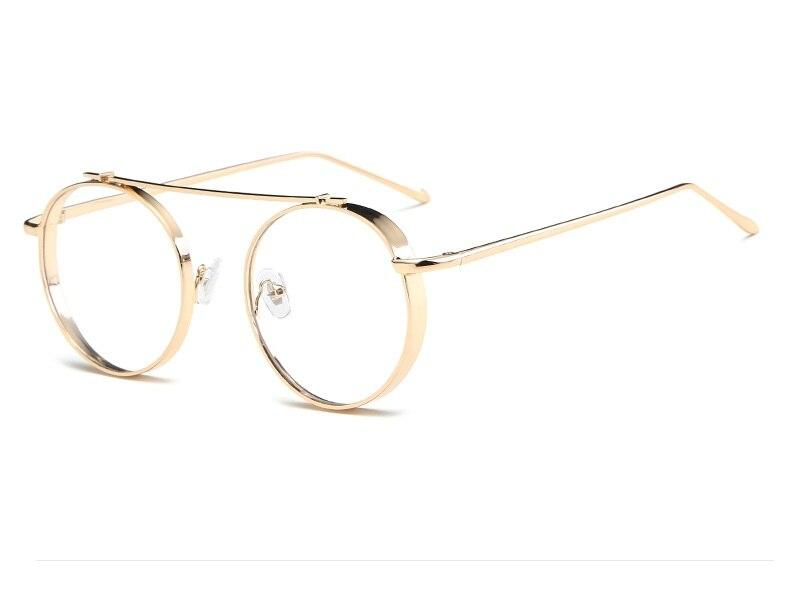 High Quality Round Glasses Frame Vintage Optical Eyeglasses Clear Lens Retro Classic Glasses Eyewear Men