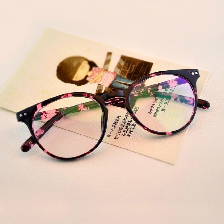 Round Vintage Clear Lens Glasses For Men And Women