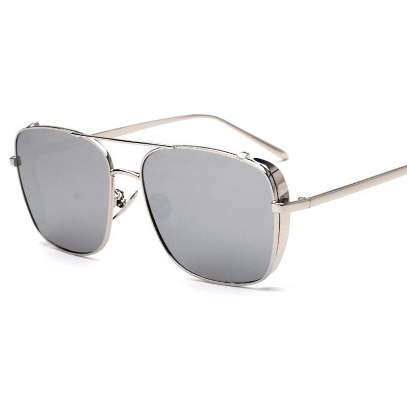 Trendy Square Metal Sunglasses For Men And Women -SunglassesTrendz