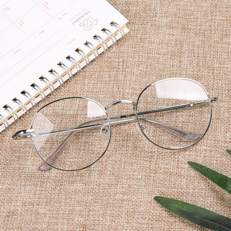 New Stylish Eyeglasses Round Metal Frame Reading Glasses Eyewear Vintage Women Men - SunglassesTrendz