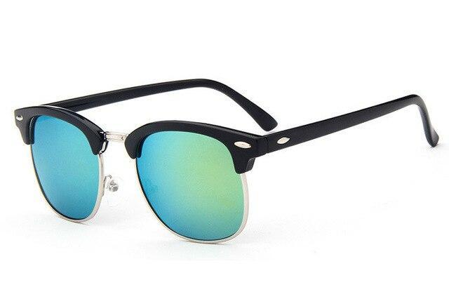 New Clubmaster Half Rim Square Sunglasses For Men And Women -SunglassesTrendz