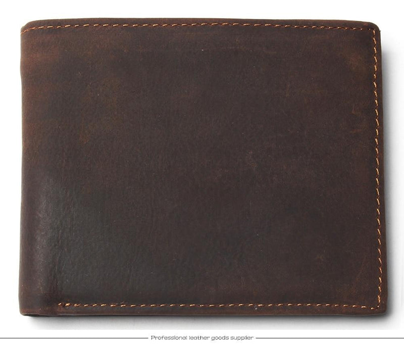 Stylish Vintage Square Mens Wallet With Coin Pocket