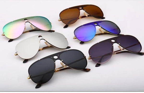 Trendy Mirror Aviator Sunglasses For Men And Women-SunglassesTrendz