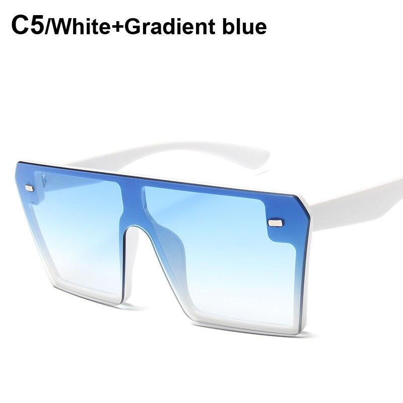 Stylish One Piece Over sized Square Sunglasses For Men And Women-SunglassesTrendz